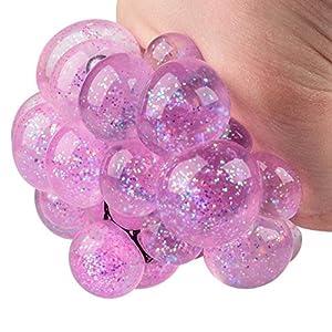 Tobar 30236 Squishy Mesh Ball Glitter 1 Unidad, Disponibles 3 Colores: Azul, Rosa y Verde