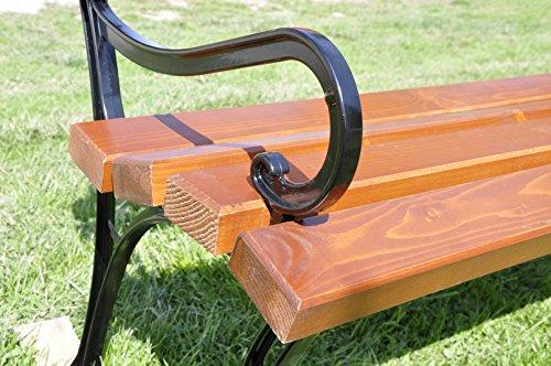 2er Set Gartenmöbel Füße Beine aus Aluminium Gartenbank Beine Parkbank Beine (mit der Armstütze) - 3