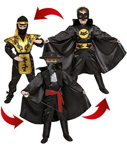 Ciao - eroi action 3 in 1 costume bambino, 6-8 anni