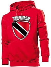 FUSSBALL - FANARTIKEL - Trinidad and Tobago Wappen Herren Hoodie Gr.S bis XXL
