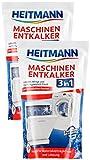 Heitmann Maschinen Entkalker für Waschmaschinen und Geschirrspüler: hochwirksame Entkalkung mit 1 Durchlauf, sofort gebrauchsfähig, schmutzlösend, gegen Kalkablagerungen und unangenehme Gerüche 2 x 175g