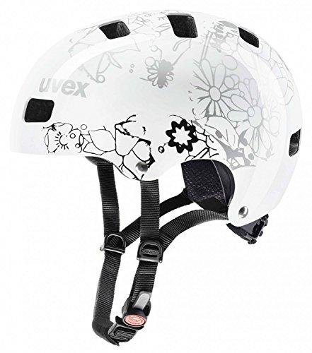 Uvex Kinder Helm Kid 3 dirtbike white flower black Modell 2018 51 - 55 cm S4148192115