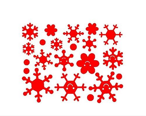 Wandaufkleber, Zolimx Engel Schneeflocke Weihnachten Vinyl Kunst Dekoration Abziehbilder (Rot) (Roter Mantel Kostüm Diy)