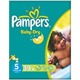 Pampers Baby Dry taille 5 (11-25 kg) Essential Pack junior 3x39 par paquet