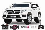 Lizenz Kinderauto Mercedes - Benz GL63 AMG 12V MP3 RC Elektroauto Kinderfahrzeug Ferngesteuert Elektro Auto (Weiss) 1191156