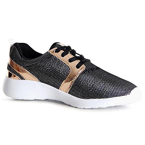 Topschuhe24, Sneaker Donna Nero ...
