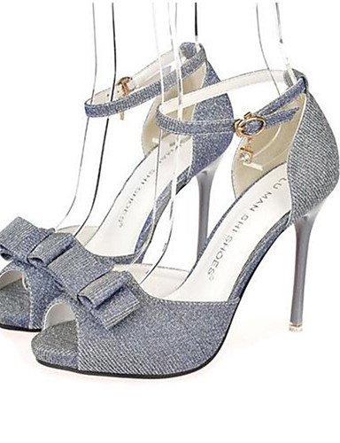 WSS 2016 Chaussures Femme-Soirée & Evénement-Noir / Gris / Or-Talon Aiguille-Talons-Talons-Polyester gray-us6.5-7 / eu37 / uk4.5-5 / cn37