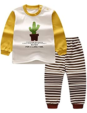 Pigiama set per bambini ragazze ragazzi neonato Highdas Camicie + Pantaloni Homewear Indumenti da notte in cotone...