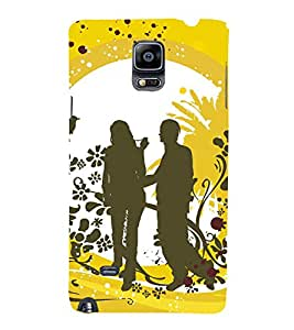 99Sublimation Cute Couple Moment 3D Hard Polycarbonate Back Case Cover for Samsung Galaxy Note 4 :: N910G :: N910F N910K/N910L/N910S N910C N910FD N910FQ N910H N910G N910U N910W8