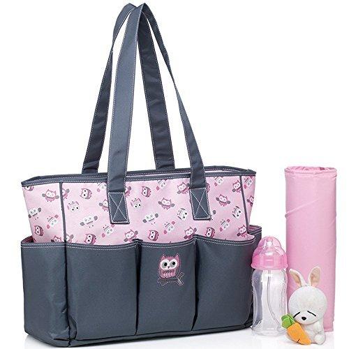 cld-dicono-le-donne-s-tote-borsa-porta-pannolini-2-pezzi-motivo-floreale-colore-rose