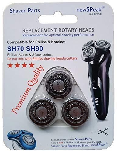 Scherköpfe Modell SH70 SH90, Alternative Neue Scherköpfe für Philips/Norelco Rasierer. -