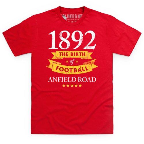 Liverpool - Birth of Football T-Shirt, Herren, Rot, 3XL -