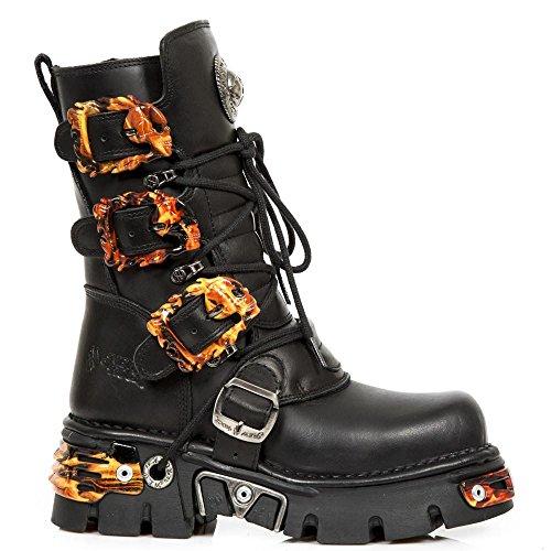 Preisvergleich Produktbild New Rock Metallic Schwarz Stiefel M.391-S27