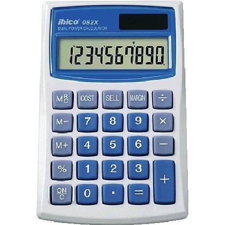 Ibico Taschenrechner solarbetrieben mit Kosten-Nutzen-Rechnungsfunktion 10-stellig 3 Tasten-Speicher 68 x 112 x 8 mm