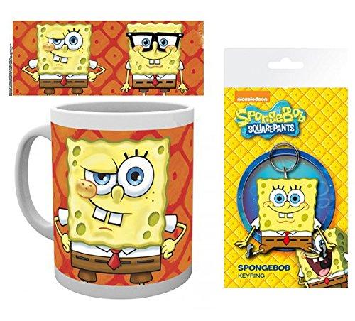 Set: Spongebob Schwammkopf, Faces Foto-Tasse Kaffeetasse (9x8 cm) Inklusive 1 Spongebob Schwammkopf...