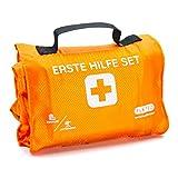 Erste Hilfe Set Outdoor Explorer, zum Wandern, Skifahren, Klettern, praktisches Rollenformat, passt in jeden Rucksack, wasserabweisend (59-teilig, orange)