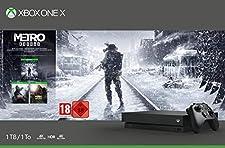 Microsoft Xbox One X, schwarz - Metro Exodus Bundle