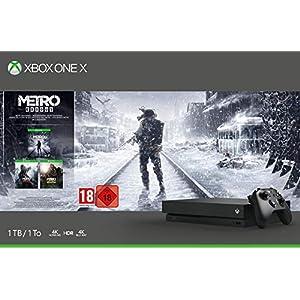 Microsoft Xbox One X, schwarz – Metro Exodus Bundle