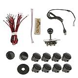 #10: Street27 DIY Arcade Game Machine USB Encoder PC Joystick Push Buttons Kits Black