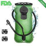 GIM - Bolsa de agua para hidratación (3 L, sin BPA, aprobado por la FDA), paquete de hidratación antigoteo