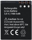 Rollei Akku Actioncam 550 Touch - Lithium-Ionen-Akku (3,8 V / 1100 mAh) - Schwarz