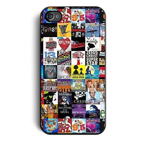 Die Festung Premium Fällen-Broadway Musical Collage für Apple Neue iPhone 6/6S (11,9cm), Silikon TPU Cover, Schiffe aus usathe Perfekte Mischung aus Minimalismus und Schock Absorption (Hockey Minion)