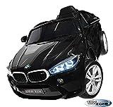 ToyZone Kinderfahrzeug BMW X6M 12V Kinder Elektro Auto Kinderauto MP3 USB Ledersitz Eva