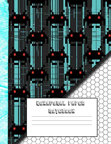 book: Turquoise 8-bit art computer glitch, large 8.5 x 11