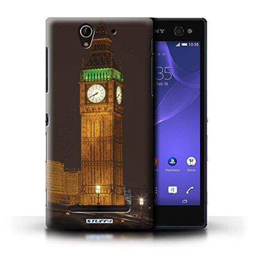 Kobalt® Imprimé Etui / Coque pour Sony Xperia C3 / Tower Bridge conception / Série Londres Angleterre Big Ben