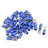 Aexit 50Pcs 16-14 AWG MDD2-250 Terminal de cable aislado con manguito de (model: L6431IV-4016MQ) PVC azul Crimpado