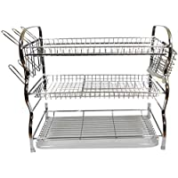 Wall Hanging 3-layer Dish Rack red sided 54CM X 27CM X 47CM