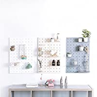 Surethingz Wall mounted storage shelf, stylish plastic Pegboard for kitchen home bedroom outdoor living room decorative.
