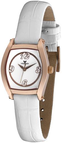 Viceroy 46472-05 – Reloj de Señora movimiento de quarzo con correa de piel blanca