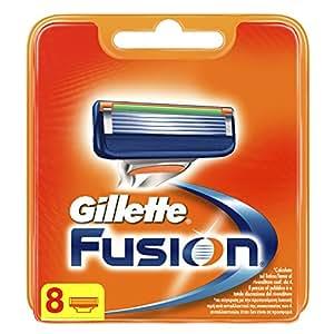 Gillette Fusion Men's Razor Blades, Standard Packing - 8 Blades