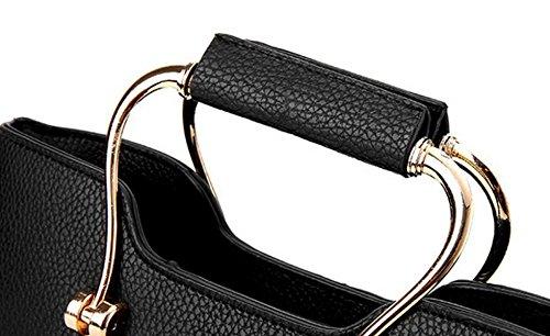 Sacchetto Di Spalla Diagonale Delle Borse Delle Signore Eleganti Selvatiche Casuali Di Modo Delle Borse Black