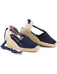 "VISCATA Escala 2.5"" Heel, Soft Ankle-Tie, Closed Toe, Classic Espadrilles Heel Made in Spain"