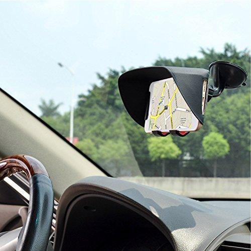 TFY Auto Windschutzscheiben Halterung und Sonnenblende & Blendschutz für iPhone 6 / 6S / 7 und Andere 4.5 - 5.2 Zoll Smartphones (4.5 - 5.2 Zoll)