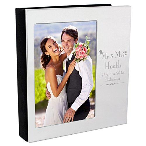 Und Frau Herr Album Foto (Mr & Mrs Fotoalbum Hochzeit 15,2x 10,2cm personalisierbar silber Finish personalisierbar Personalisieren dieses)