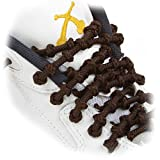 XTENEX - X300 Brown 30(PATENTED) Adjustable Eyelet Blocking No Tie Elastic Shoe Laces for an Extreme Lock In Performance Fit
