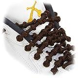 Xtenex Pointure < 35 Paire de lacets autobloquants pour Chaussures Enfant Garçon, Bleu Royal, 50 cm