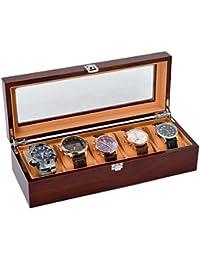 Cajas para Relojes, The perseids Estuche para Relojes, Con 5 Compartimentos, Caja de