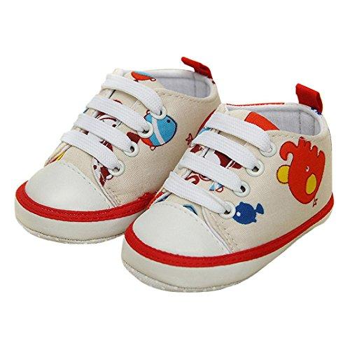 pour 0-18 mois Bébé, Amlaiworld Bébé garçons filles Animal impression toile chaussures Rouge
