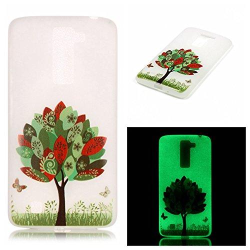 Per iPhone 6 6S (4,7 Zoll) , iPhone 6 6S (4,7 Zoll) Custodia,Cozy Hut Warm Ultra Sottile Nottilucenti Luminoso Flessibile TPU Silicone Custodia Protettiva Cover Case per iPhone 6 6S (4,7 Zoll) - ti am Le foglie degli alberi farfalla