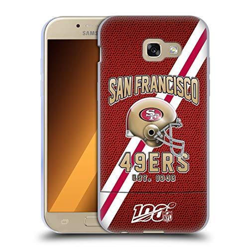 Head Case Designs Offizielle NFL Football Streifen 100ste 2019/20 San Francisco 49ers Soft Gel Huelle kompatibel mit Samsung Galaxy A5 (2017)