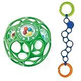Oball Set - für Buben Oball Rattle Grün mit O-Link blau