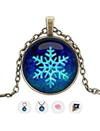 kudoscart Snowflake - The Perfect Gifts for Girls - Kids Pendant Necklaces