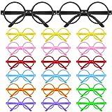Biggroup 20 piezas de lentes de mago de plástico para niños, marco de gafas redondo, sin lentes...