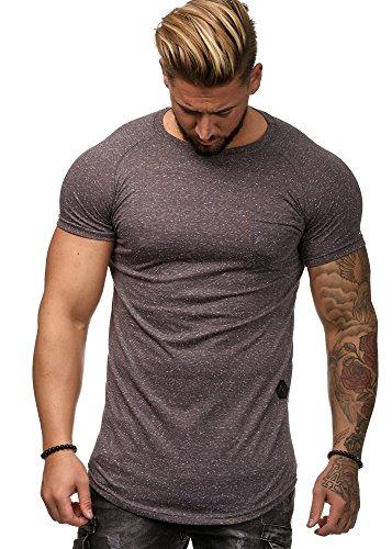 OneRedox Herren Shirt Hoodie Longsleeve Kurzarm Shirt Sweatshirt T-Shirt W12 Antra XXL