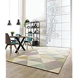 alfombra moderna principal diseñador Alfombra 160x230cm FC01 de varios triángulos multicolores 100% de polipropileno