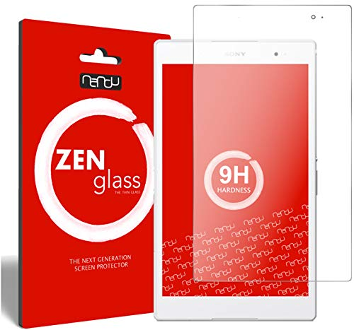 nandu I ZenGlass Flexible Glas-Folie für Sony Xperia Z3 Tablet Compact Panzerfolie I Bildschirm-Schutzfolie 9H